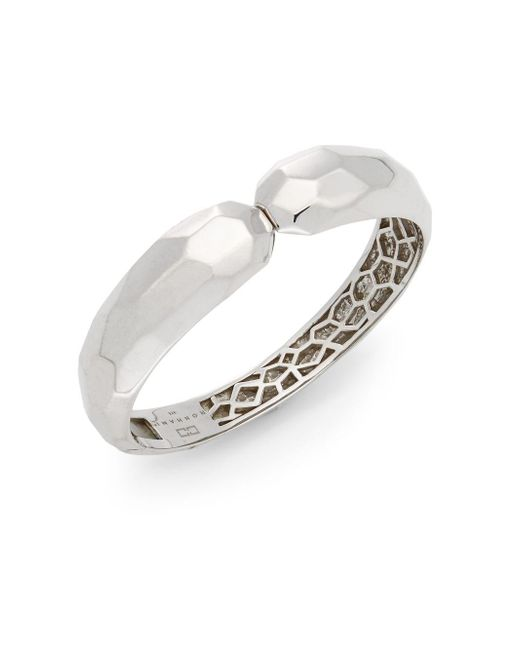 Ron Hami | Metallic Silver Lining Carved Sterling Silver Cuff Bracelet | Lyst