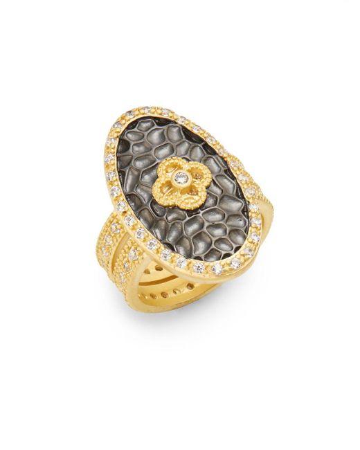 Freida Rothman | Metallic Clover Oval Shield Ring | Lyst