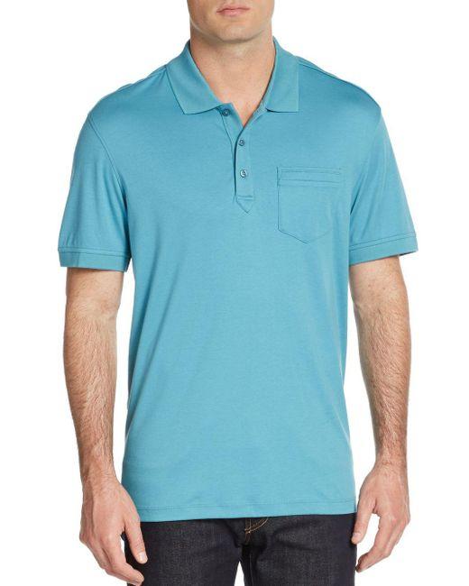 Saks Fifth Avenue | White Slim Ice Cotton Polo Shirt for Men | Lyst