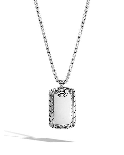 John Hardy - Metallic Classic Chain Sterling Silver Dog Tag Pendant Necklace - Lyst