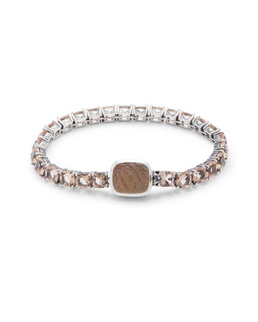 Stephen Dweck | White Smoky Quartz, Hydro Quartz & Sterling Silver Bracelet | Lyst