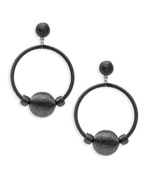 Gemma Simone - Black Round Drop Earrings - Lyst