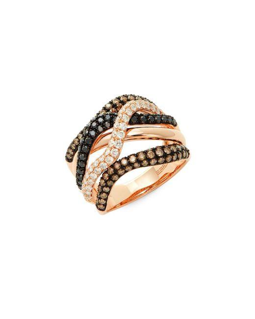 Effy - Metallic Confetti Multicolor Diamond & 14k Rose Gold Ring - Lyst