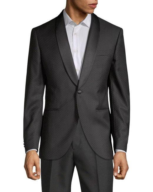 Lubiam - Black Shawl Collar Dinner Jacket for Men - Lyst