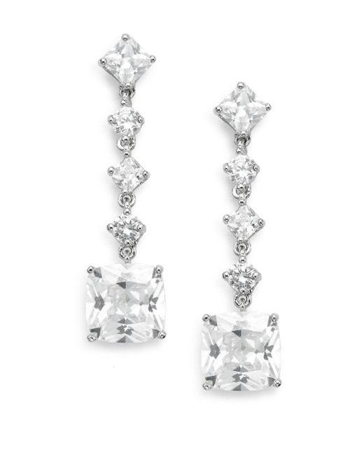 Saks Fifth Avenue - Metallic Linear Square Drop Earrings - Lyst