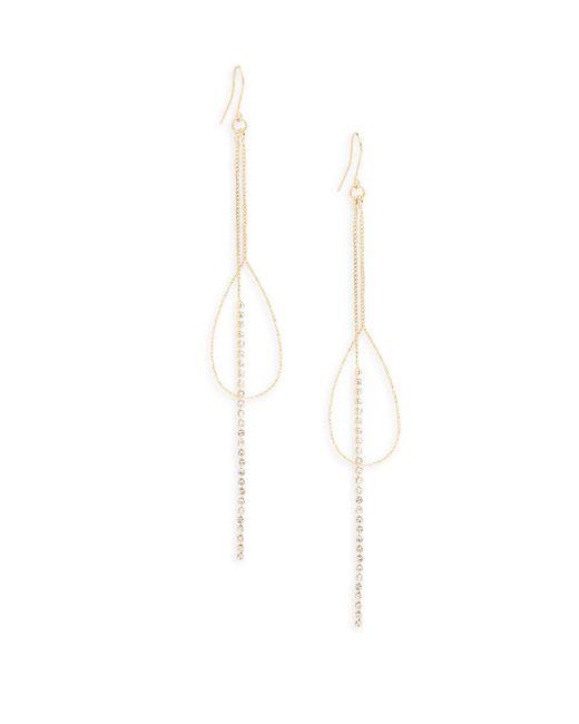 Saks Fifth Avenue | Metallic Studded Linear Earrings | Lyst