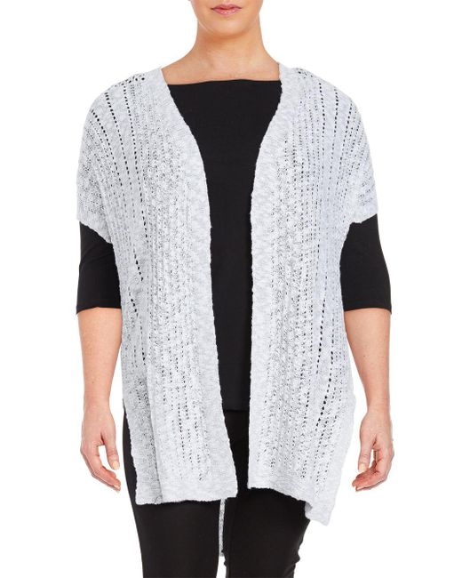 Vince Camuto - White Long Open-front Cardigan - Lyst