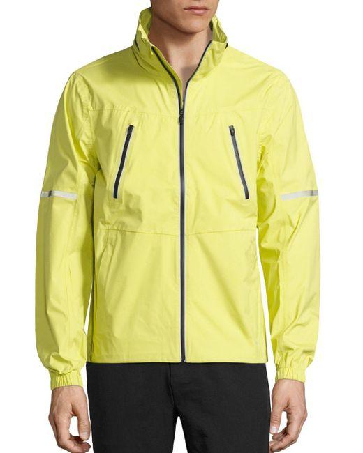 Revo   Yellow Detachable Hood Jacket for Men   Lyst