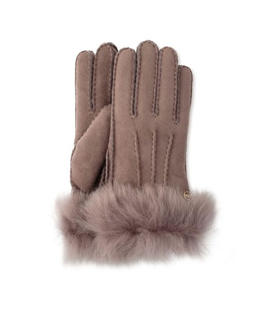 Ugg - Multicolor Toscana Shearling-trimmed Leather Gloves - Lyst