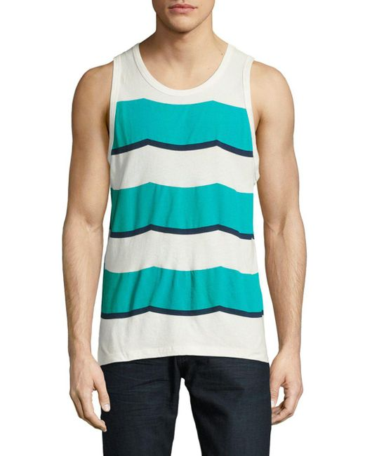 Sol Angeles | Blue Printed Sleeveless Tee for Men | Lyst