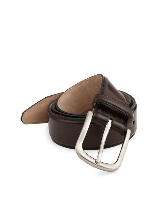 Saks Fifth Avenue - Brown Cordovan Leather Belt for Men - Lyst