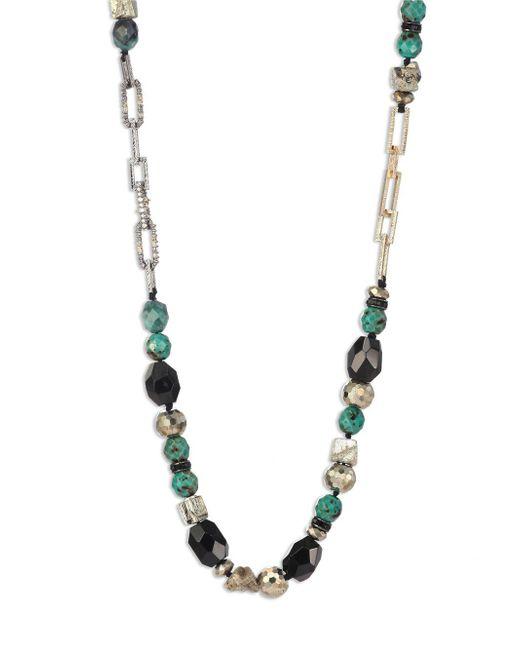 Alexis Bittar - Metallic Crystal-encrusted Mixed Stone Necklace - Lyst