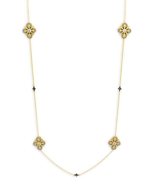 Freida Rothman - Metallic Crystal And Sterling Silver Twein Station Necklace - Lyst