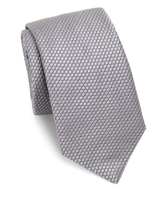 Ike Behar - Gray Medallion Silk Tie for Men - Lyst