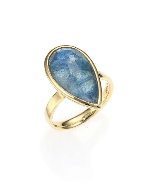 Ippolita - Metallic Rock Candy London Blue Topaz, Labradorite & 18k Yellow Gold Doublet Ring - Lyst