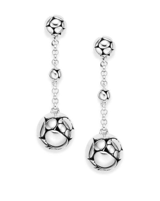 John Hardy   Metallic Kali Sterling Silver Chain Drop Earrings   Lyst