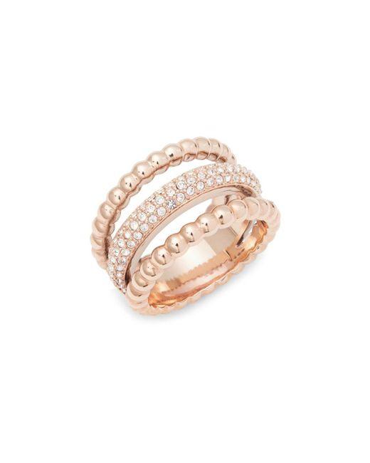 Swarovski - Metallic Clear Crystal Midi Ring - Lyst