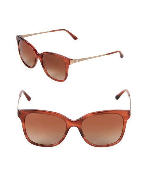Giorgio Armani - Brown 54mm Square Sunglasses - Lyst