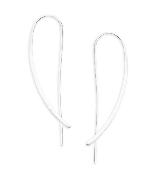 Saks Fifth Avenue | Metallic Sterling Silver Crossover Earrings | Lyst