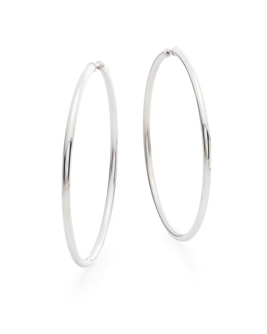 Saks Fifth Avenue | Metallic Sterling Silver Hoop Earrings/2.25"