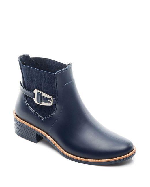 Bernardo - Blue Pansie Ankle Strap Rainboots - Lyst