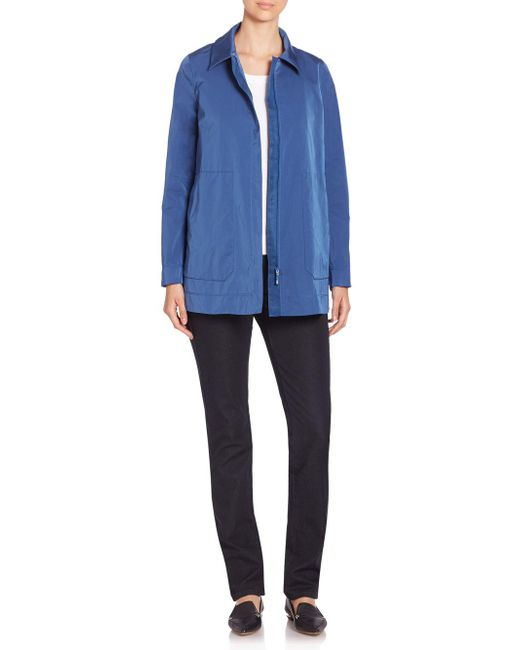 Lafayette 148 New York - Blue Couture Cloth Stella Jacket - Lyst