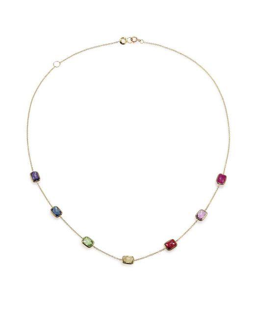 Ippolita - Metallic Rock Candy Rainbow Semi-precious Multi-stone & 18k Yellow Gold Station Necklace - Lyst