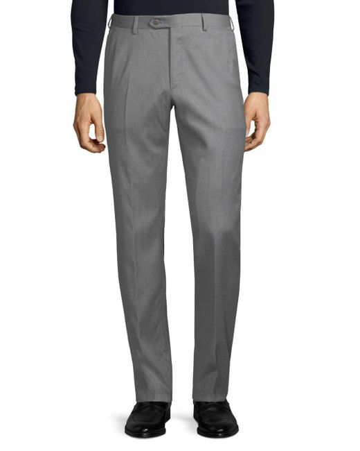 Brioni - Gray Classic Wool Trousers for Men - Lyst