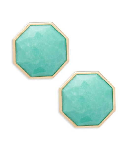 Ippolita - Metallic Turquoise Clip-on Earrings - Lyst