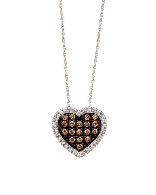 Le Vian - Chocolate Diamond Heart Pendant In 14 Kt. White Gold - Lyst