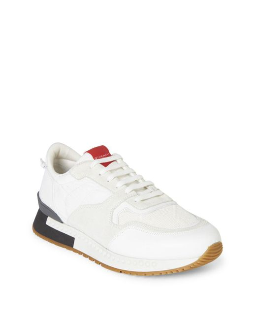 Givenchy - White Mixed-media Colorblock Trainers for Men - Lyst