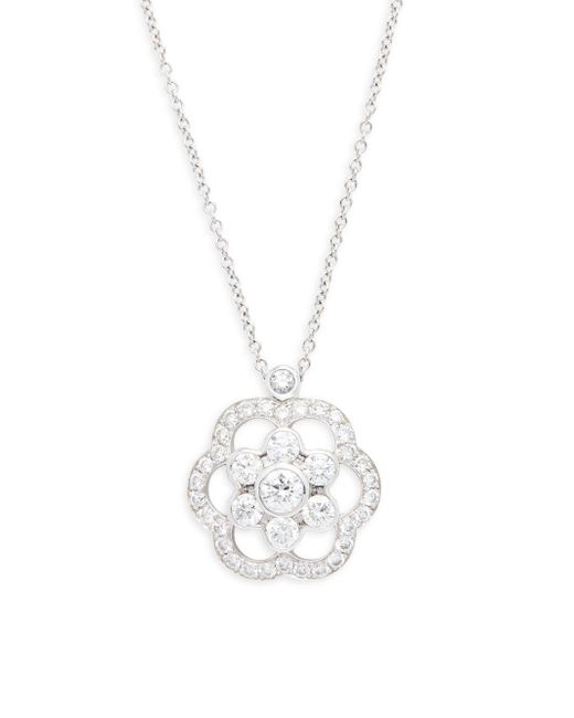 Kwiat - Metallic Oasis Diamond & 18k White Gold Pendant Necklace - Lyst