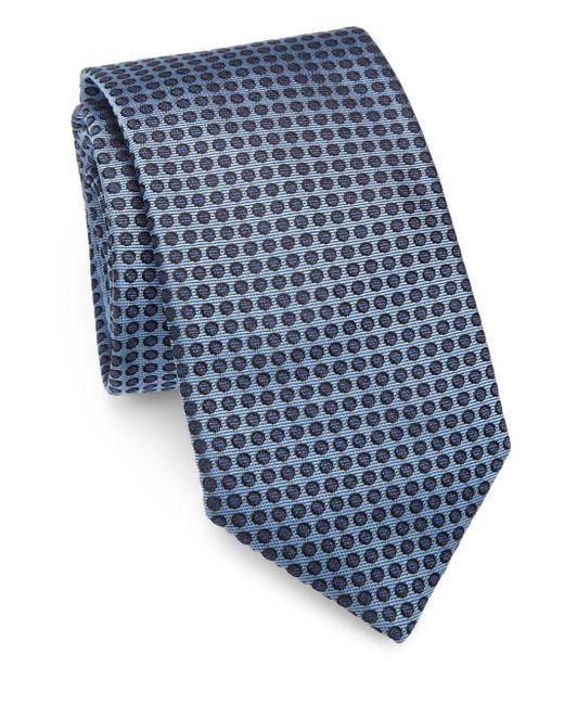 Saks Fifth Avenue - Blue Polka Dot Silk Tie for Men - Lyst