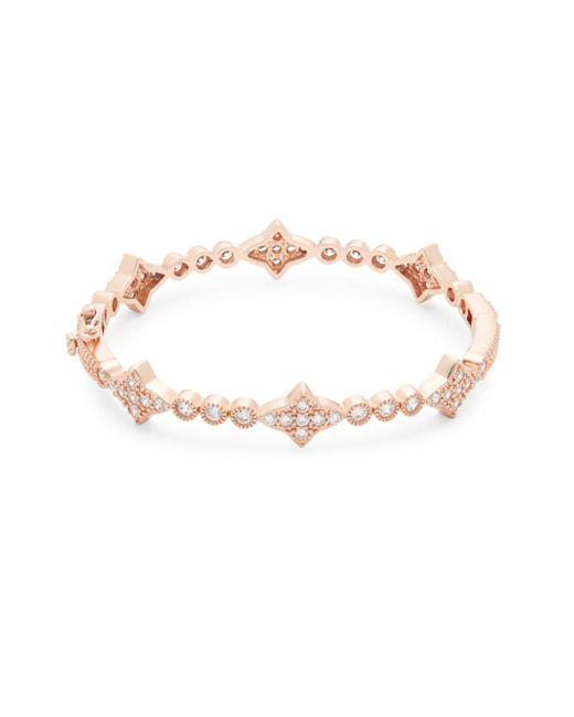Freida Rothman - Metallic Crystal & Sterling Silver Star Bangle Bracelet - Lyst