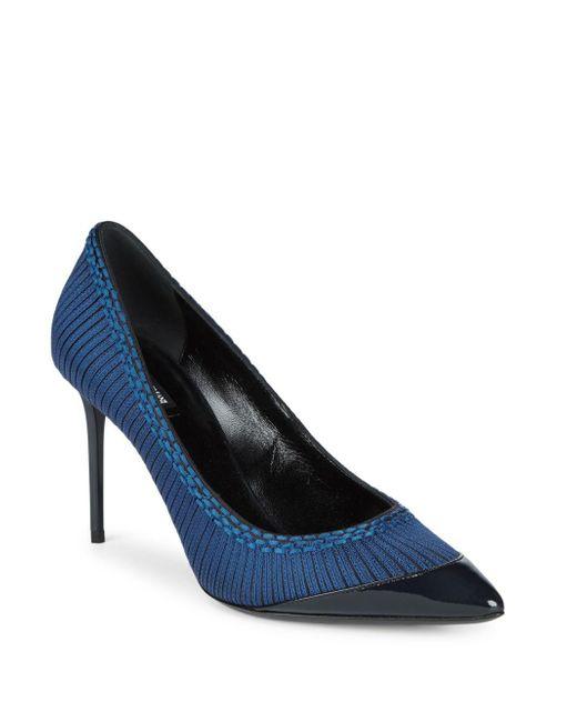 Giorgio Armani   Blue Embroidered Stiletto Pumps   Lyst
