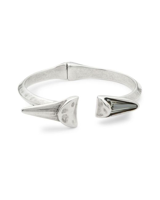 Uno De 50 - Metallic Crystal And Open Cuff Bracelet - Lyst
