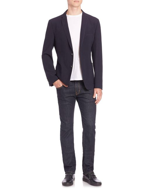 Strellson - Blue Front Button Jacket for Men - Lyst
