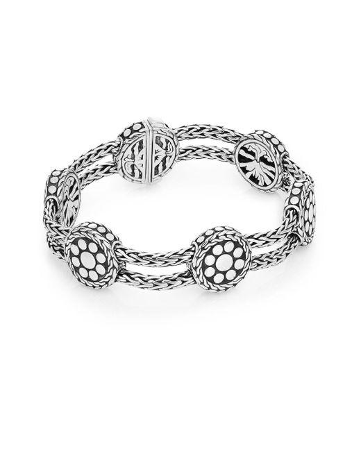 John Hardy   Metallic Dot Sterling Silver Rope & Disc Bracelet   Lyst
