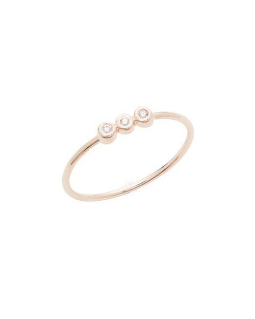 Danni - Metallic Diamond And 14k Rose Gold Ring, 0.04 Tcw - Lyst