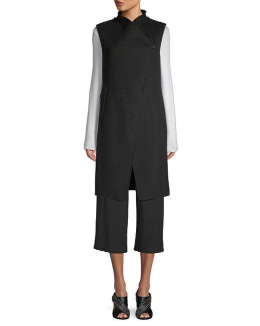 SOIA & KYO - Black Sleeveless Longline Vest - Lyst