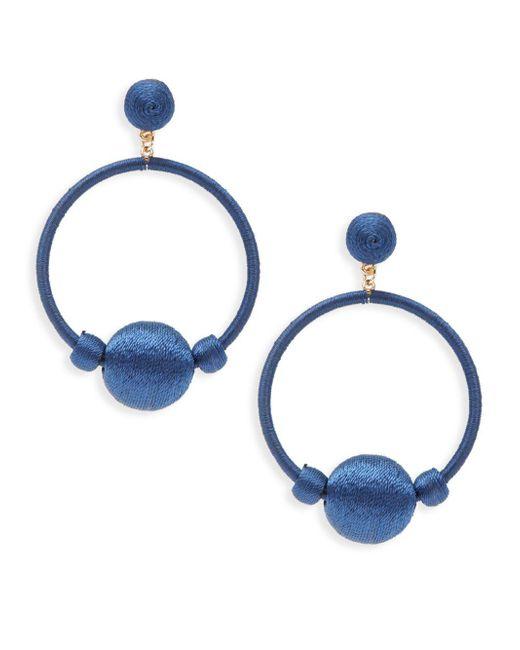 Gemma Simone - Blue Round Drop Earrings - Lyst