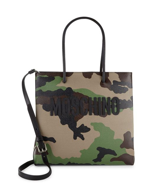 Moschino | Green Camouflage Leather Tote | Lyst