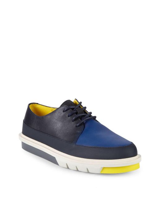 Camper - Blue Colorblock Leather Derby Shoes for Men - Lyst