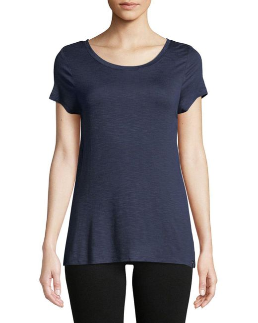 Marc New York - Blue Crisscross Strappy Tee - Lyst