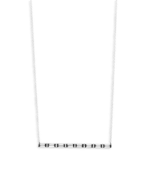 Meira T - Metallic Diamonds, Clear Quartz And 14k White Gold Horizontal Bar Pendant Necklace - Lyst