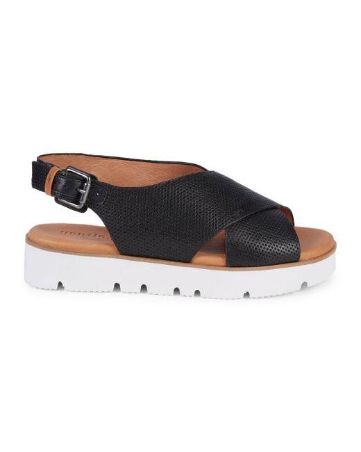 Gentle Souls - Black Prisca Perforated Platform Walking Sandals - Lyst