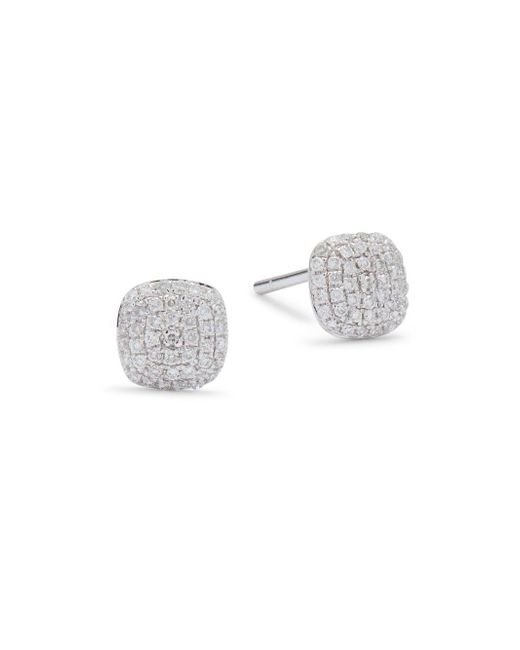KC Designs - Metallic Diamond & 14k White Gold Stud Earrings - Lyst