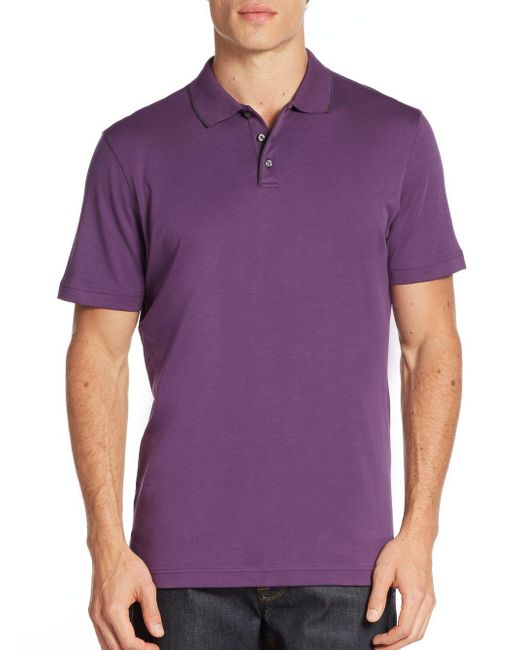 Robert Barakett | Purple Georgia Cotton Polo Shirt for Men | Lyst