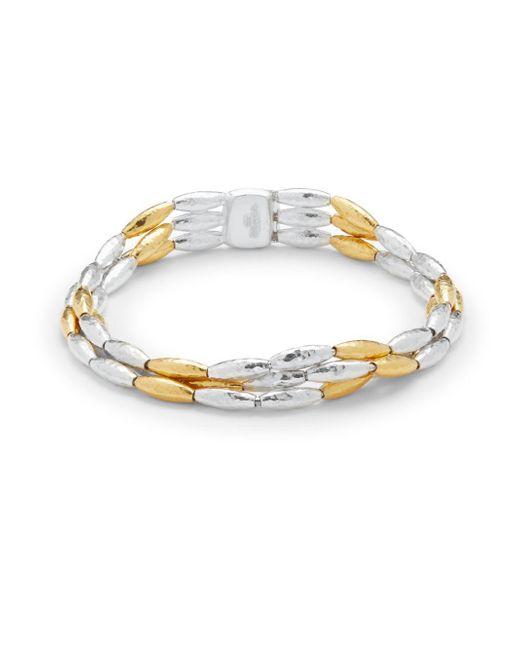 Gurhan - Metallic Sterling Silver & 24k Gold Vermeil Bracelet - Lyst