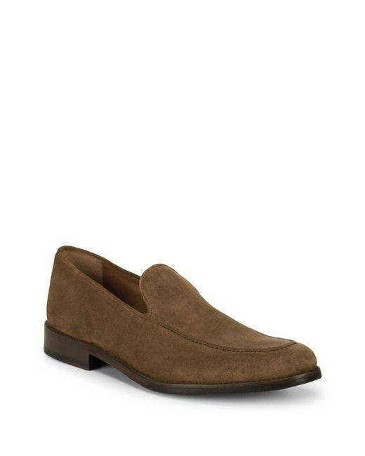 Frye - Brown Jefferson Venetian Suede Loafers for Men - Lyst